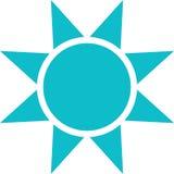 Διάνυσμα εικονιδίων ήλιων Στοκ εικόνες με δικαίωμα ελεύθερης χρήσης
