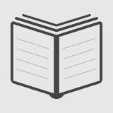Διάνυσμα εικονιδίων βιβλίων επίπεδο Στοκ φωτογραφίες με δικαίωμα ελεύθερης χρήσης