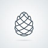 Διάνυσμα εικονιδίων γραμμών Pinecone Στοκ Εικόνες