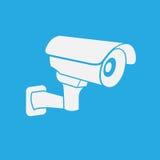 Διάνυσμα εικονιδίων κάμερων ασφαλείας CCTV Στοκ Εικόνες