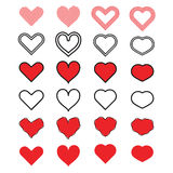 Διάνυσμα εικονιδίων καρδιών Στοκ Εικόνες