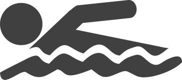 Διάνυσμα εικονιδίων κολύμβησης Στοκ εικόνα με δικαίωμα ελεύθερης χρήσης