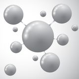 Διάνυσμα εικονιδίων μορίων Σύγχρονο πρότυπο για την επιχείρηση απεικόνιση αποθεμάτων