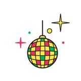 Διάνυσμα εικονιδίων σφαιρών Disco Λαμπρό φωτισμένο simbol Στοκ εικόνα με δικαίωμα ελεύθερης χρήσης