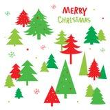 Διάνυσμα εικονιδίων Χριστουγέννων δέντρων ελεύθερη απεικόνιση δικαιώματος