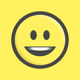 Διάνυσμα εικονιδίων Emoticon Στοκ φωτογραφία με δικαίωμα ελεύθερης χρήσης