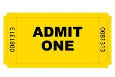 διάνυσμα εισιτηρίων εισόδων Στοκ Εικόνες