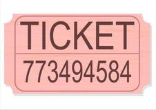 διάνυσμα εισιτηρίων λοταρίας απομόνωσης διαγωνισμού Στοκ φωτογραφία με δικαίωμα ελεύθερης χρήσης