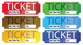 Διάνυσμα εισιτηρίων Στοκ Εικόνες