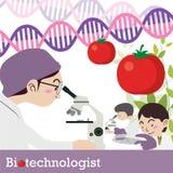 Διάνυσμα επαγγέλματος Biotechnologist Στοκ εικόνα με δικαίωμα ελεύθερης χρήσης