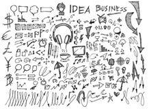 Διάνυσμα επιχειρησιακών doodles σκίτσων eps10 Στοκ φωτογραφία με δικαίωμα ελεύθερης χρήσης