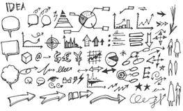 Διάνυσμα επιχειρησιακών doodles σκίτσων eps10 Στοκ Φωτογραφίες