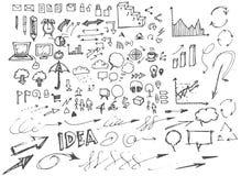 Διάνυσμα επιχειρησιακών doodles σκίτσων eps10 Στοκ Φωτογραφία