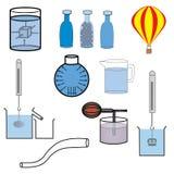 Διάνυσμα εργαστηριακού εξοπλισμού επιστήμης ελεύθερη απεικόνιση δικαιώματος