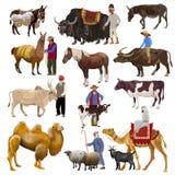 Διάνυσμα ζώων αγροκτημάτων ελεύθερη απεικόνιση δικαιώματος