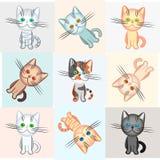 διάνυσμα θέματος γατών αν&alpha Στοκ Εικόνες