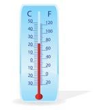 διάνυσμα θερμομέτρων απε&io Στοκ Εικόνα