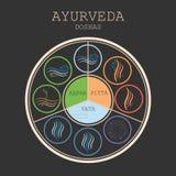 Διάνυσμα διαγραμμάτων Ayurveda Στοκ Φωτογραφίες