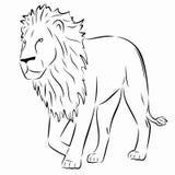 Διάνυσμα λιονταριών σκιαγραφιών Στοκ Εικόνες