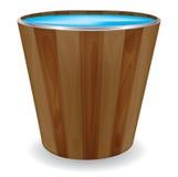 διάνυσμα κάδων ξύλινο Στοκ Εικόνες