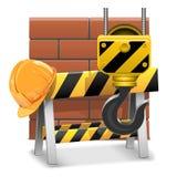 Διάνυσμα κάτω από την έννοια κατασκευής με τα τούβλα Στοκ φωτογραφίες με δικαίωμα ελεύθερης χρήσης
