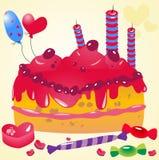 διάνυσμα κέικ γενεθλίων Στοκ φωτογραφίες με δικαίωμα ελεύθερης χρήσης