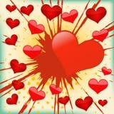 διάνυσμα καρδιών έκρηξης α&n Διανυσματική απεικόνιση