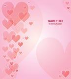 διάνυσμα καρδιών ανασκόπη&sig Στοκ εικόνα με δικαίωμα ελεύθερης χρήσης