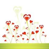διάνυσμα καρδιών κήπων Στοκ φωτογραφία με δικαίωμα ελεύθερης χρήσης