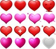 διάνυσμα καρδιών συλλο&gamm Στοκ φωτογραφία με δικαίωμα ελεύθερης χρήσης