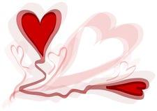 διάνυσμα καρδιών σχεδίο&upsilon Στοκ Εικόνα
