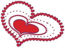 διάνυσμα καρδιών σχεδίο&upsilon Στοκ φωτογραφία με δικαίωμα ελεύθερης χρήσης
