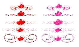 διάνυσμα καρδιών Στοκ φωτογραφίες με δικαίωμα ελεύθερης χρήσης