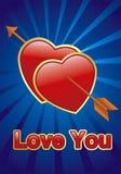 διάνυσμα καρδιών Στοκ εικόνες με δικαίωμα ελεύθερης χρήσης