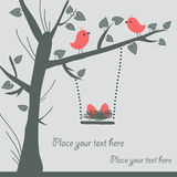 διάνυσμα καρτών πουλιών Στοκ φωτογραφία με δικαίωμα ελεύθερης χρήσης