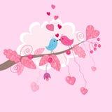 διάνυσμα καρτών πουλιών Στοκ Εικόνα