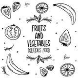 Διάνυσμα καρτών τέχνης τροφίμων προγευμάτων διανυσματική απεικόνιση