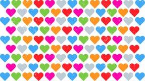Διάνυσμα καρδιών Grunge Στοκ Εικόνα