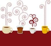 διάνυσμα καφέδων