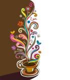 διάνυσμα καφέ εμβλημάτων απεικόνιση αποθεμάτων