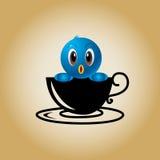 Διάνυσμα καφέ λογότυπων πουλιών Στοκ εικόνες με δικαίωμα ελεύθερης χρήσης