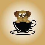 Διάνυσμα καφέ λογότυπων σκυλιών Στοκ Εικόνα