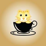 Διάνυσμα καφέ λογότυπων τιγρών Στοκ φωτογραφίες με δικαίωμα ελεύθερης χρήσης