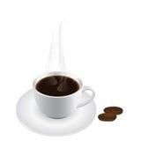 διάνυσμα καφέ Στοκ εικόνα με δικαίωμα ελεύθερης χρήσης