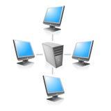 Διάνυσμα κεντρικών υπολογιστών δικτύου δικτύων Στοκ Εικόνες