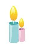 διάνυσμα κεριών Στοκ εικόνες με δικαίωμα ελεύθερης χρήσης