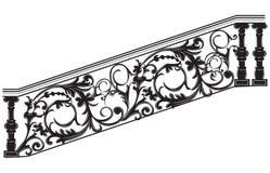 Διάνυσμα κιγκλιδωμάτων σκαλοπατιών διανυσματική απεικόνιση
