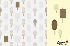 Διάνυσμα: Κινεζικό παραδοσιακό άνευ ραφής σχέδιο πολιτισμού Κινεζικά μέσα σφραγίδων: Ευτυχία διανυσματική απεικόνιση