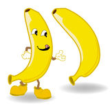 Διάνυσμα κινούμενων σχεδίων μπανανών Στοκ φωτογραφίες με δικαίωμα ελεύθερης χρήσης