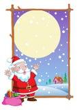 Διάνυσμα κινούμενων σχεδίων Άγιου Βασίλη Χριστουγέννων Στοκ Εικόνα
